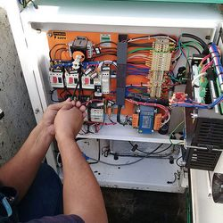 Manutenção de unidade chiller