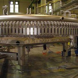 Manutenção de máquina de envase de bebida